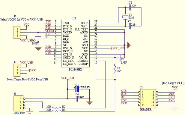 Микросхема pl 2303: http://sixtenst.appspot.com/mikroshema.html