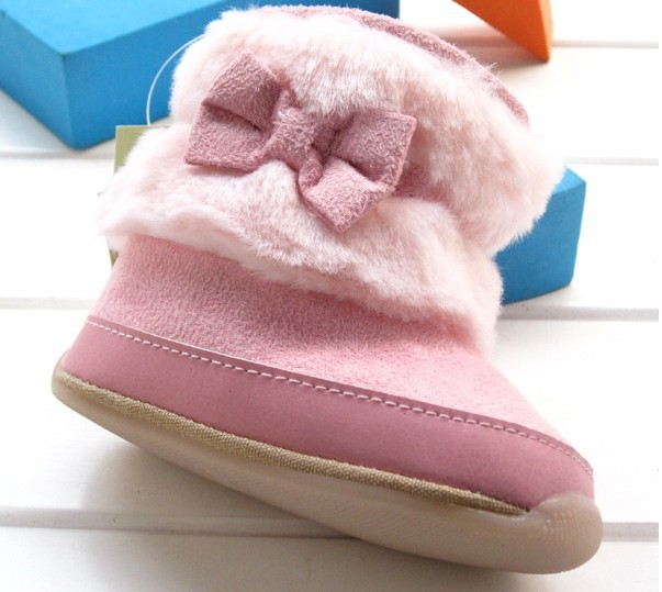 New Baby Soft Sole Baby Boys Girls Furry Bootee Crib Shoes Age 3 18 Months 4